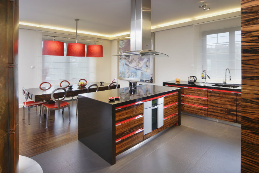 Luces para muebles de cocina estante de vidrio con led - Luces para muebles de cocina ...