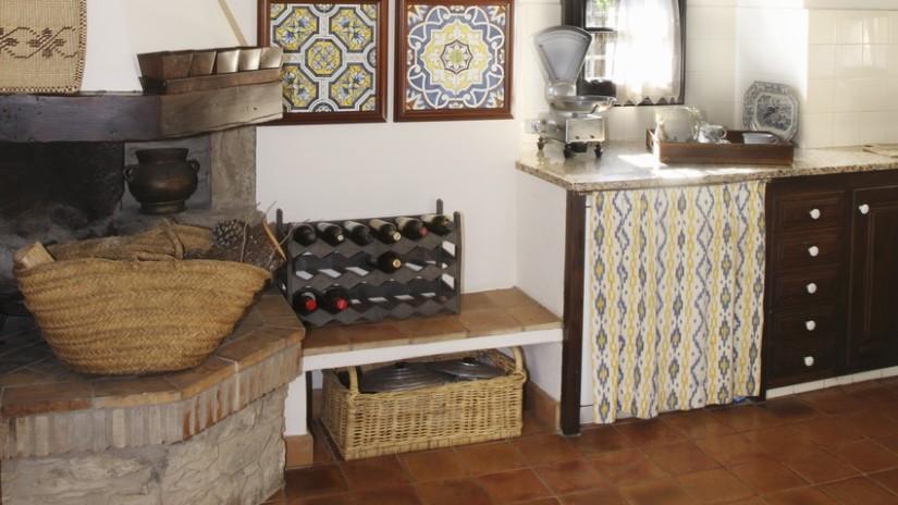 cocinas con suelos rústicos