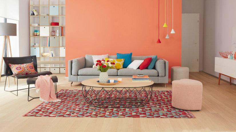 colores para salones naranja
