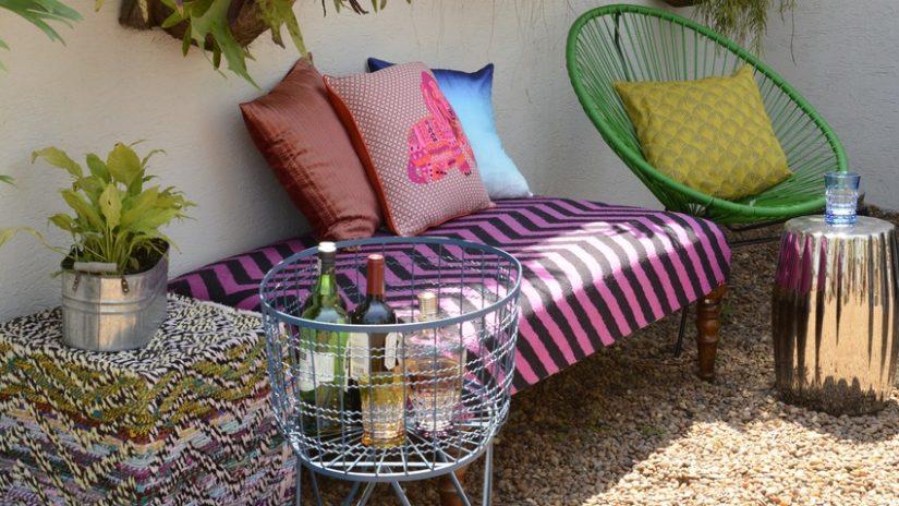 decoración de patios colores
