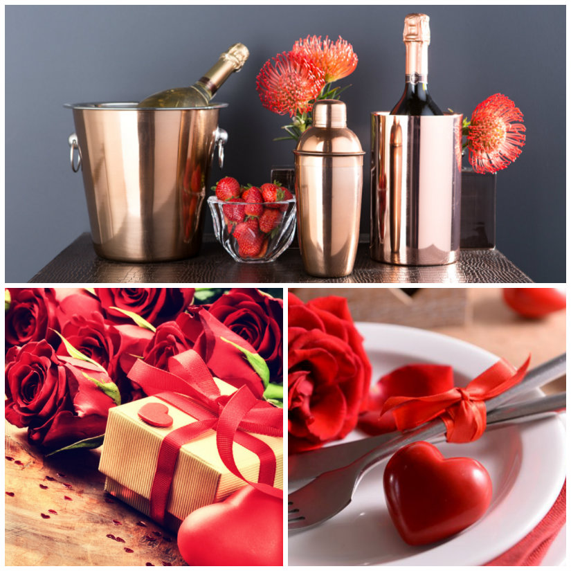 decoración de san valentin con flores