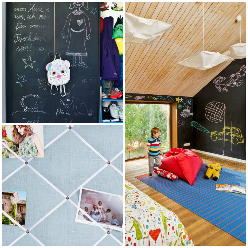 Pared de pizarra ideas creativas para decorar westwing - Pizarra pared infantil ...