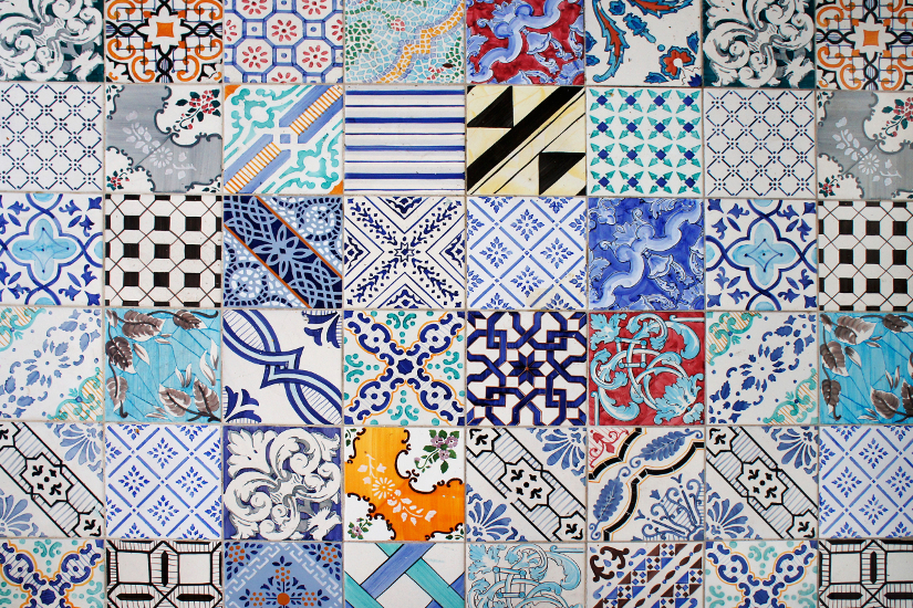 Paredes de patios decorando cada rinc n westwing - Colores para pintar azulejos ...