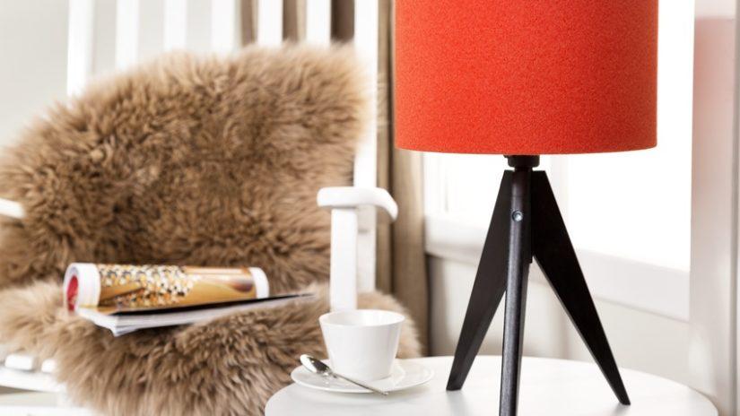 decoración con fieltro lámpara
