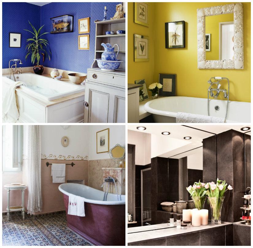 decoración de baños con colores