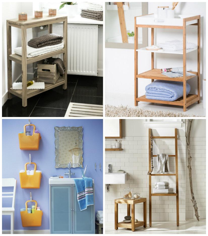 decoración de baños estanterías