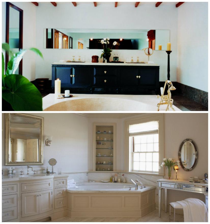 decoración de baños grandes
