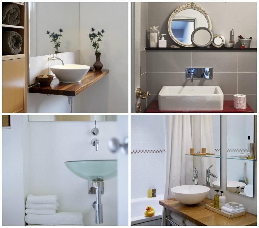 decoración de baños pequeños lavabos