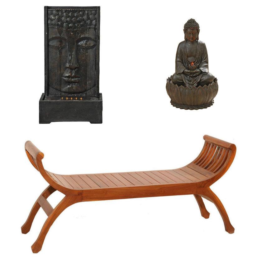 decoración de terrazas zen