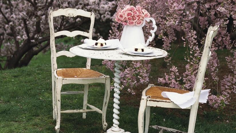 mesa de forja para patio rústico
