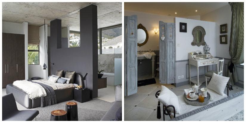 baño integrado en el dormitorio tabique