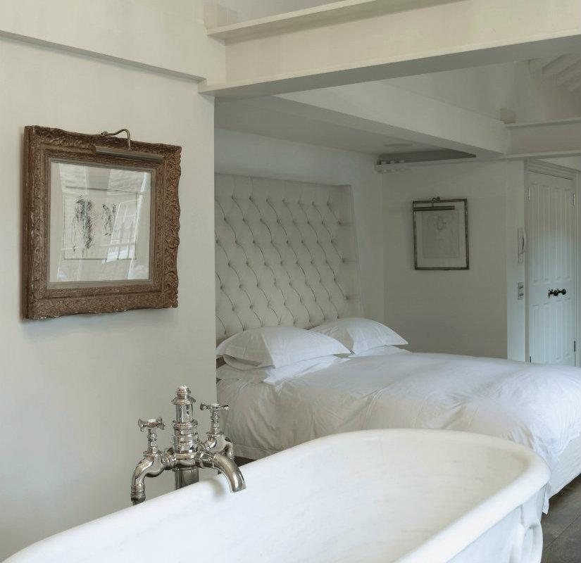 Charming Baño Integrado En El Dormitorio En Un Loft