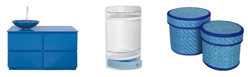 baño azul muebles prácticos