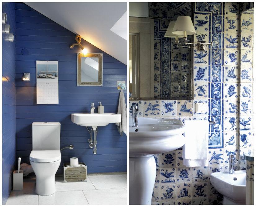 baño azul pequeño