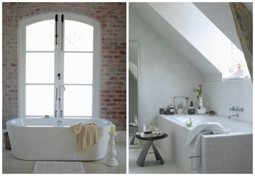 baño de lujo de luz natural