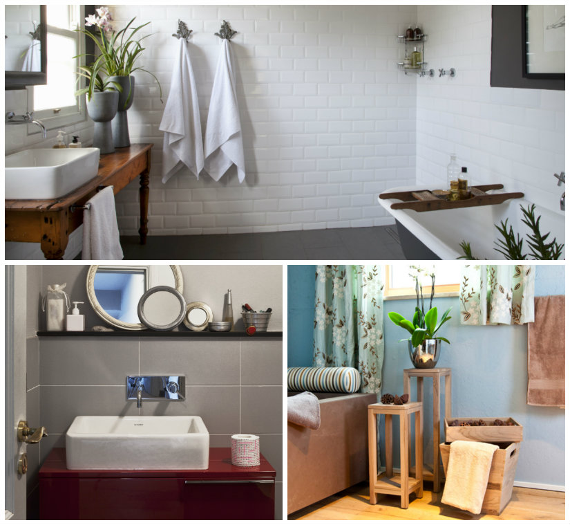 baño minimalista colores
