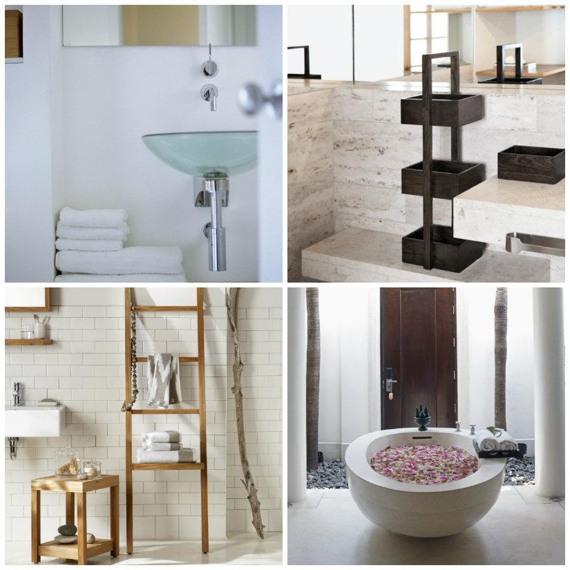 baño minimalista muebles