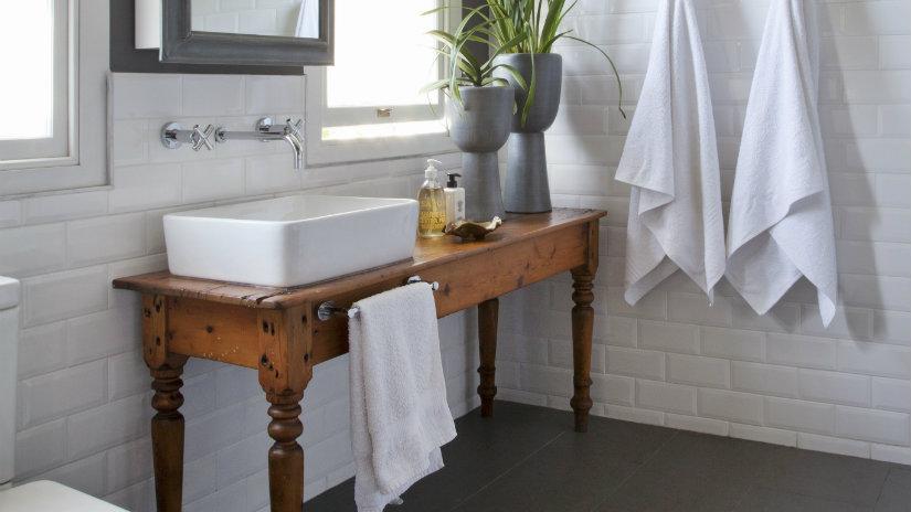 baño rústico muebles de madera