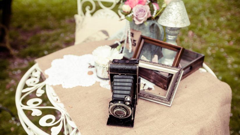 Decoración de jardines para bodas vintage