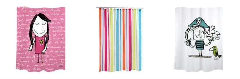 decoración baño infantil cortina ducha