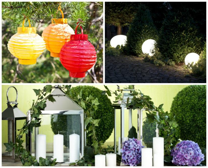 iluminación de jardines para bodas