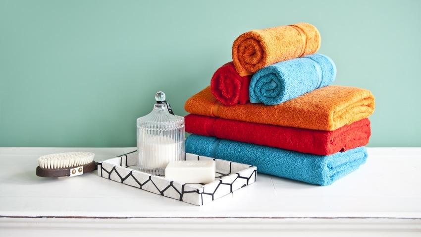 toallas de baño de colores