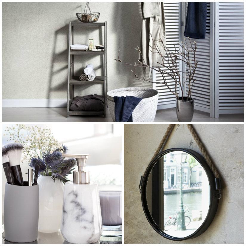 muebles de baño grises accesorios