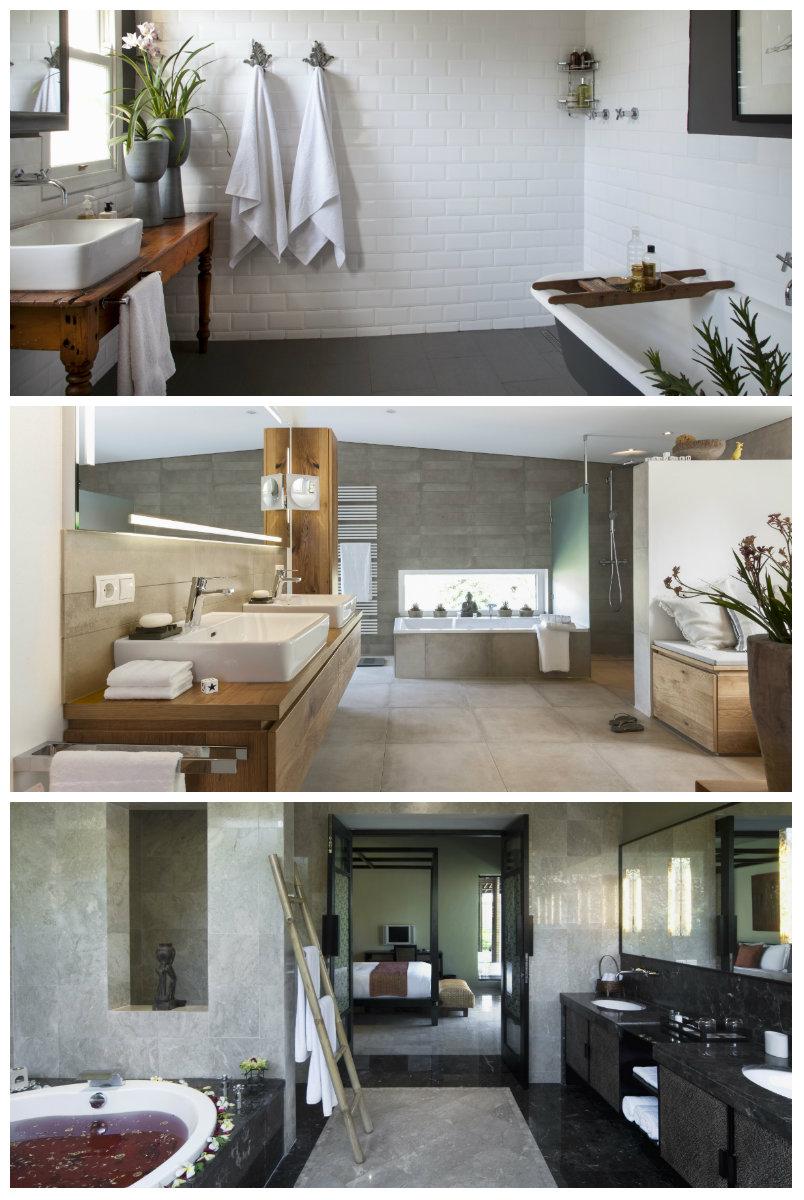 muebles de baño grises combinados