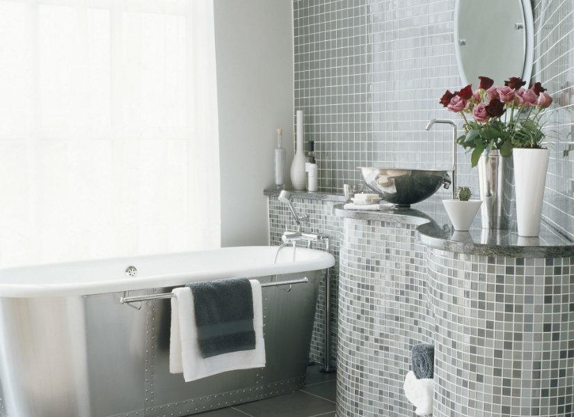muebles de baño grises modernos