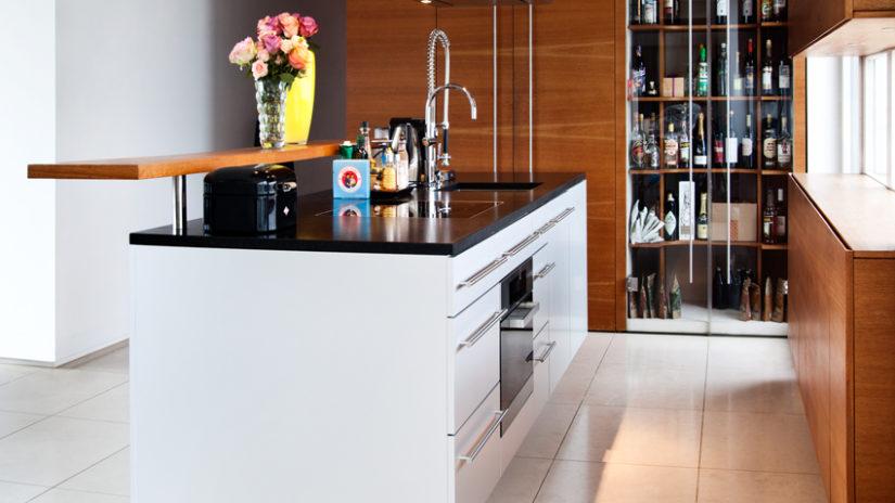 muebles de cocina de madera mármol