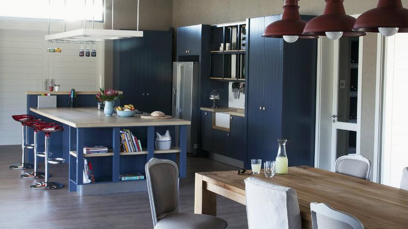 cocinas abiertas al salón estilo industrial