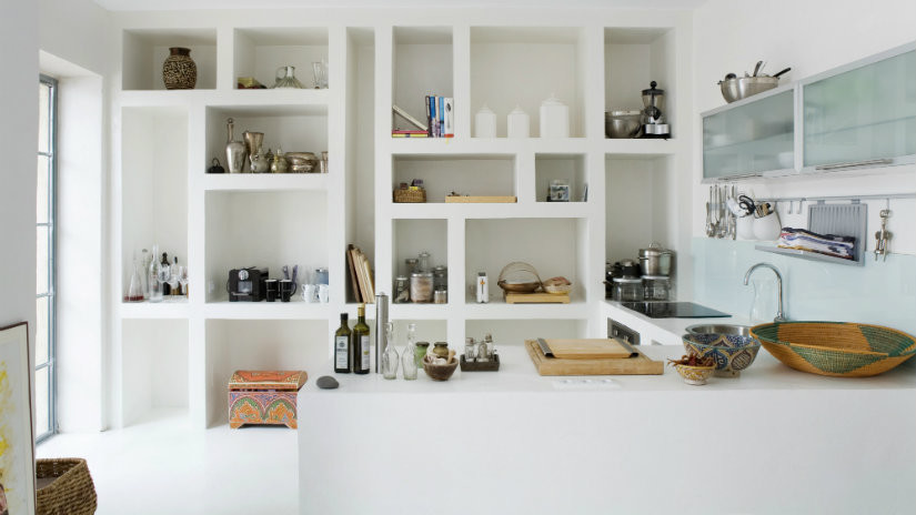 cocinas blancas minimal