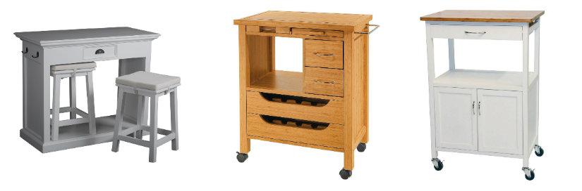 cocinas clásicas muebles auxiliares