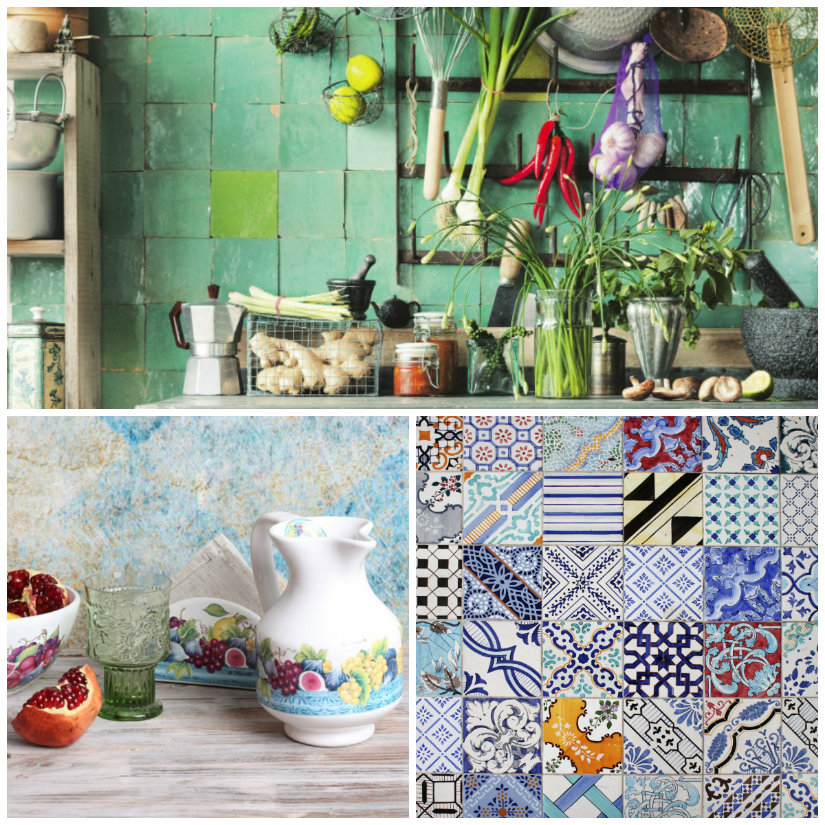 cocinas con azulejos