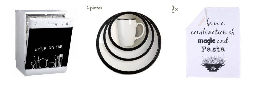 cocinas blancas modernas accesorios negros