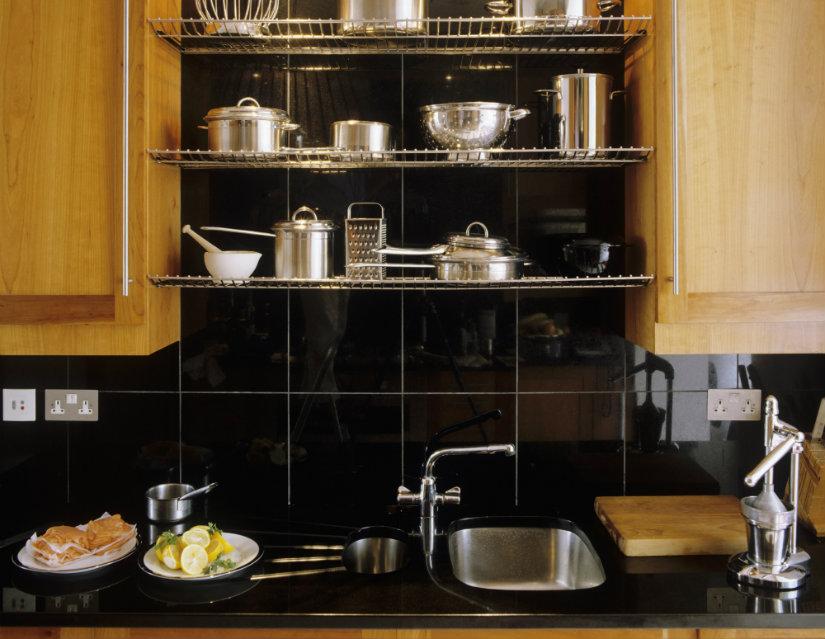 cocinas negras amplias