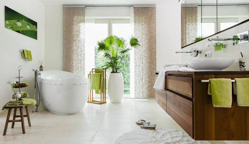 feng shui en el baño colores claros