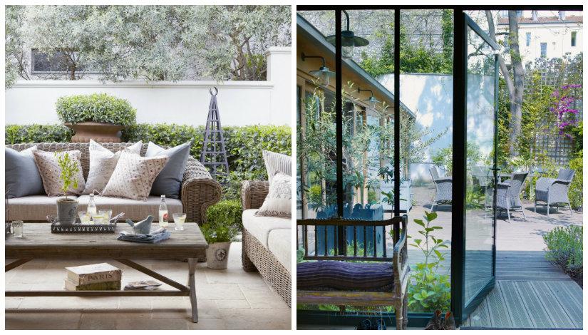 jardines en terrazas elegantes