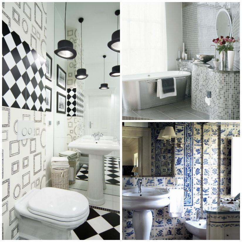 paredes para baños azulejos