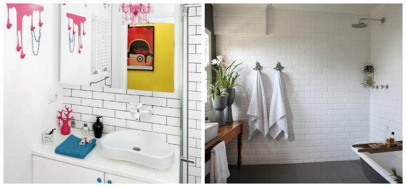 paredes para baños ladrillos