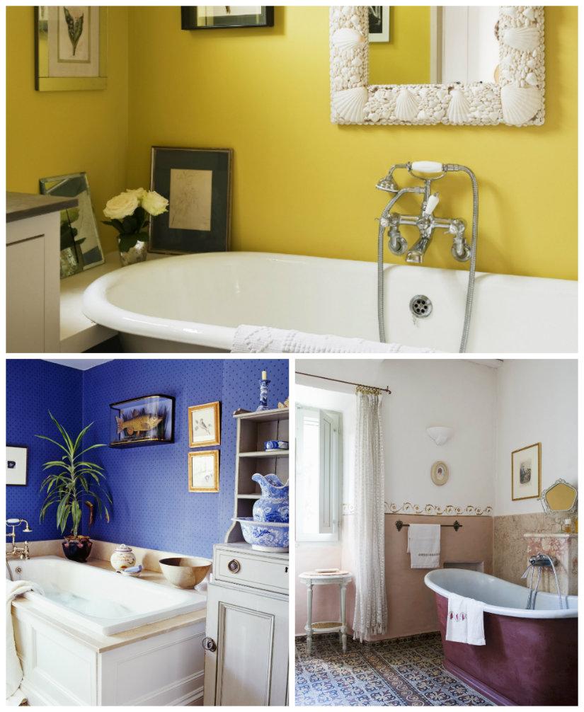 paredes para baños pintura de colores