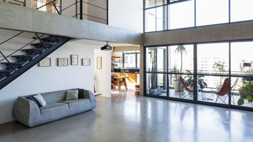terraza acristalada moderna