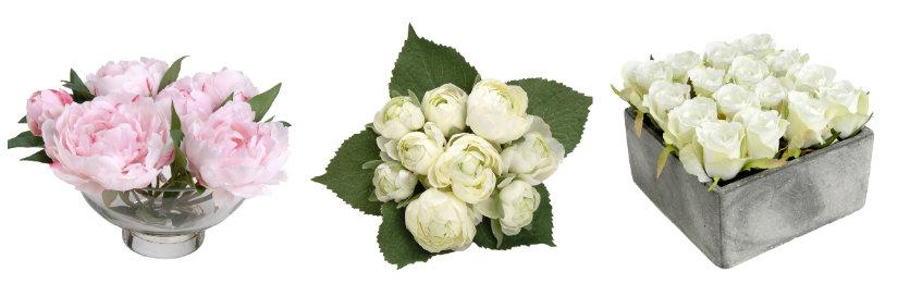 centros de flores para decoración de recepción de bodas