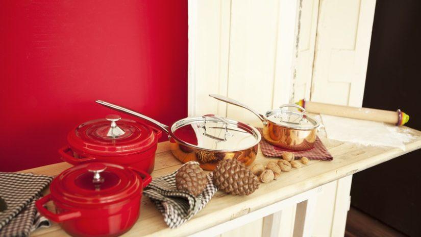 cocinas rústicas modernas rojo