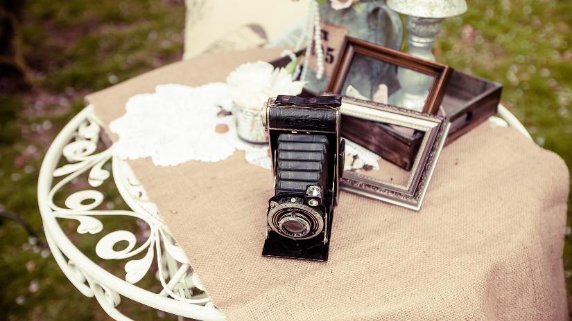 photocall para recepción de boda
