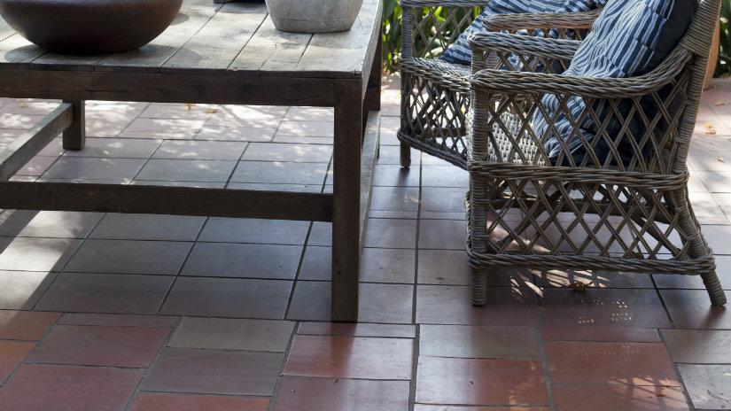 suelos para terrazas estilo rústico