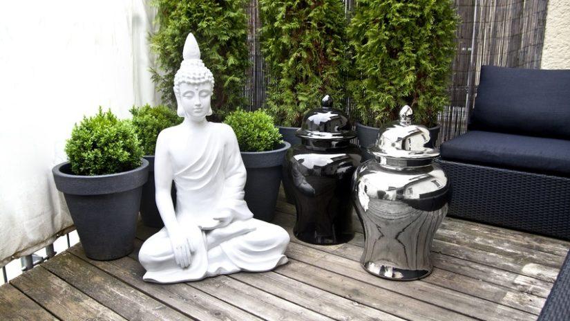 Balcones con plantas zen