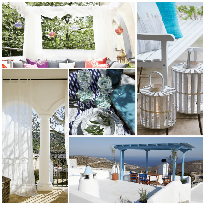 terrazas modernas blanco y colores