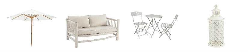 terrazas modernas muebles blancos