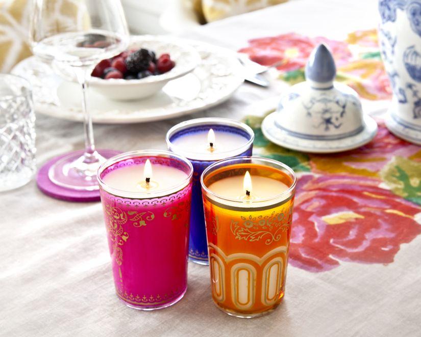 mesas con velas